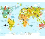 World Map Animals 2