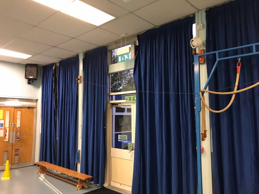New Primary School Hall Blinds - Leicester - Before