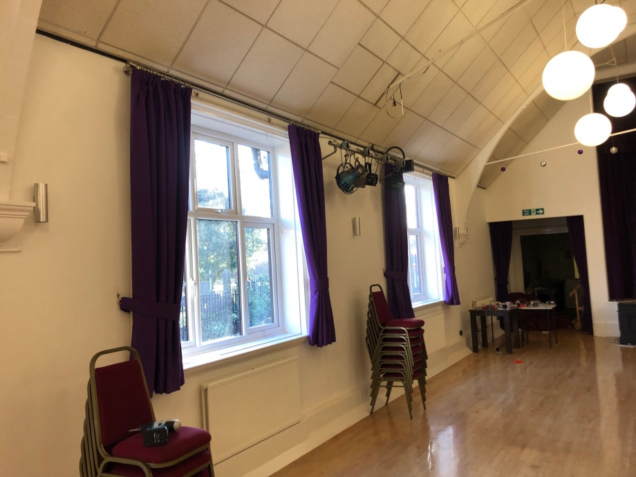 Community Hall Curtains - Hucknall->title 1