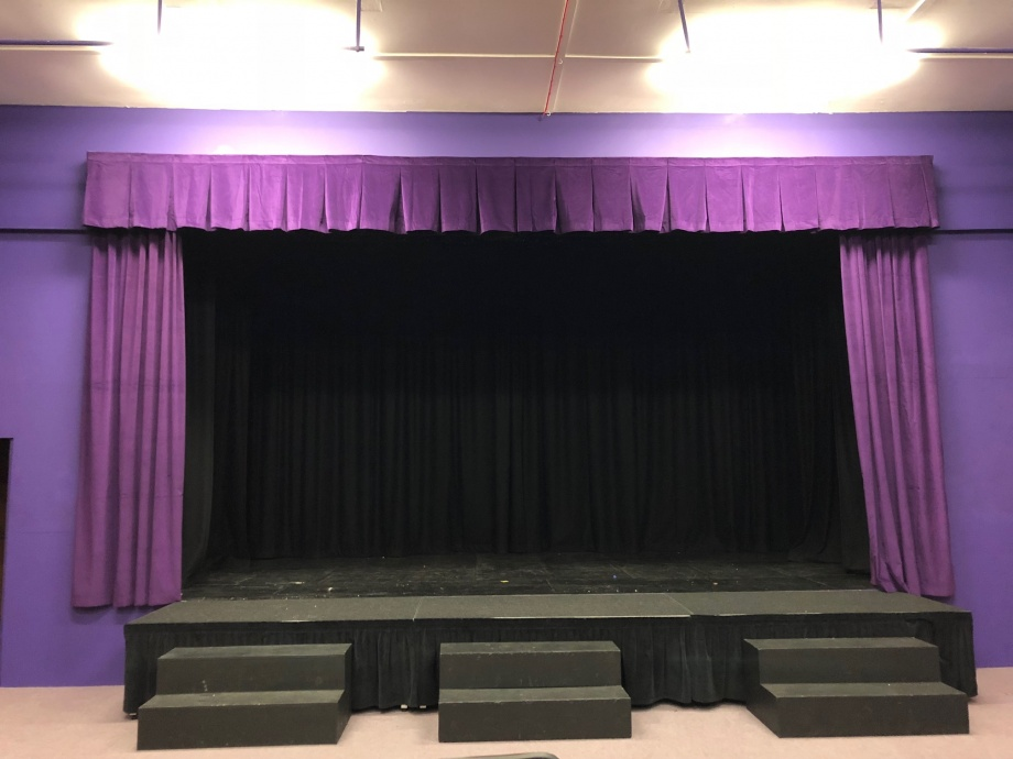 School Stage Curtains - Hindhead->title 1