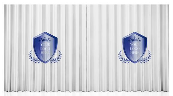 School Logo Curtains for School Halls & Stage Curtains 2